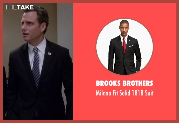 Brooks Brothers black suit from Scandal seen with President Fitzgerald Grant (Tony Goldwyn)