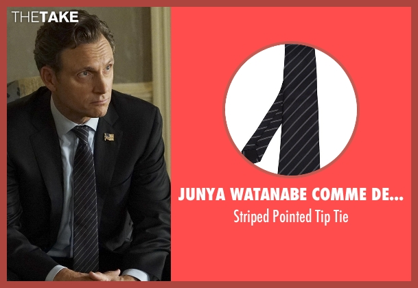 Junya Watanabe Comme Des Garçons Man black tie from Scandal seen with President Fitzgerald Grant (Tony Goldwyn)