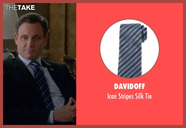Davidoff black tie from Scandal seen with President Fitzgerald Grant (Tony Goldwyn)