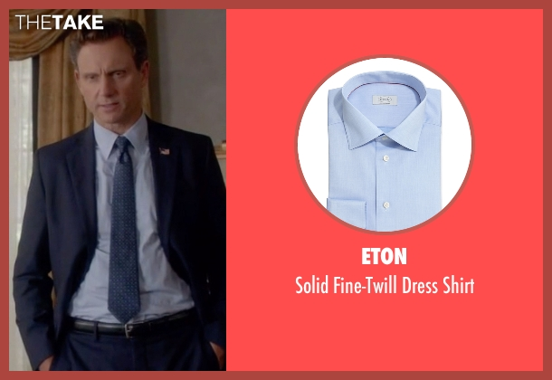 Eton	 blue shirt from Scandal seen with President Fitzgerald Grant (Tony Goldwyn)