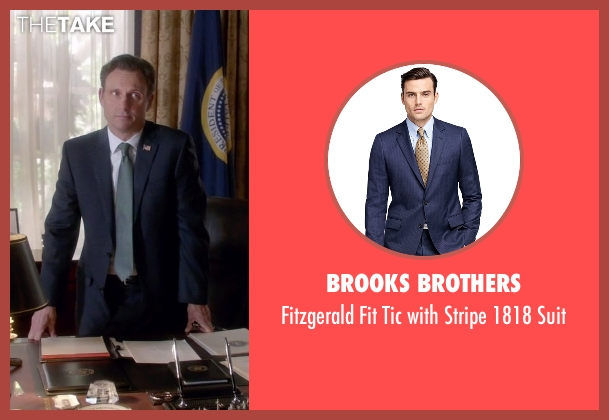 Brooks Brothers blue suit from Scandal seen with President Fitzgerald Grant (Tony Goldwyn)