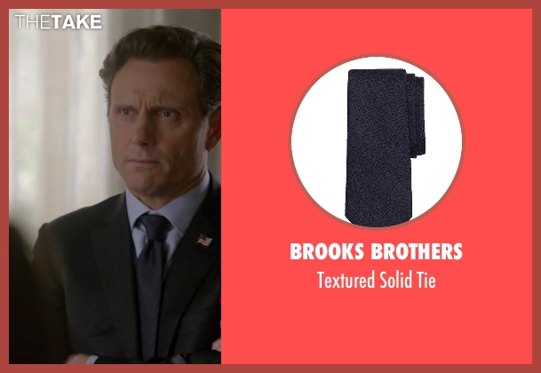 Brooks Brothers blue tie from Scandal seen with President Fitzgerald Grant (Tony Goldwyn)
