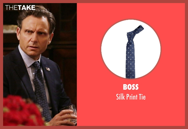Boss blue tie from Scandal seen with President Fitzgerald Grant (Tony Goldwyn)