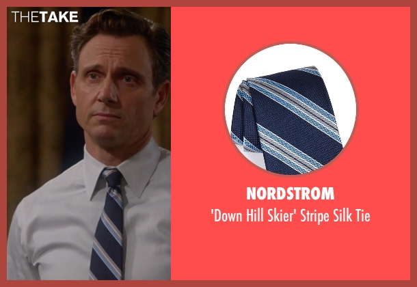 Nordstrom blue tie from Scandal seen with President Fitzgerald Grant (Tony Goldwyn)