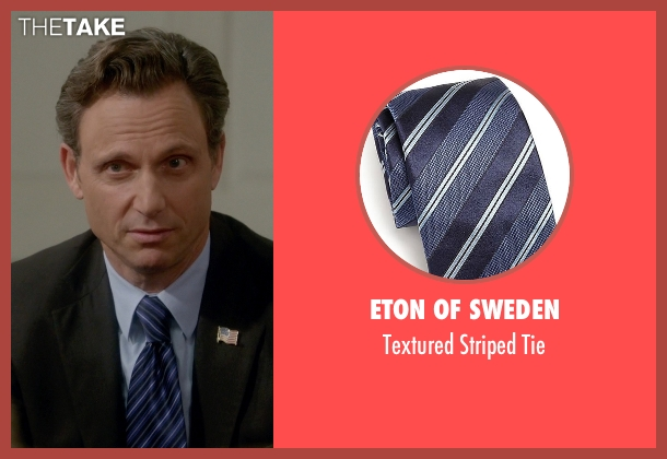 Eton Of Sweden blue tie from Scandal seen with President Fitzgerald Grant (Tony Goldwyn)