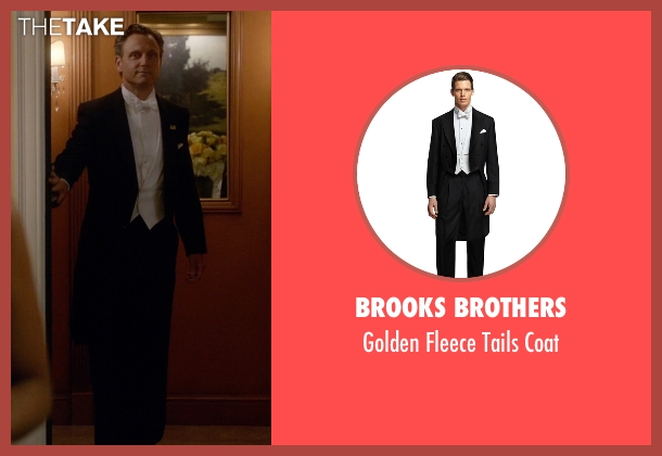 Brooks Brothers coat from Scandal seen with President Fitzgerald Grant (Tony Goldwyn)