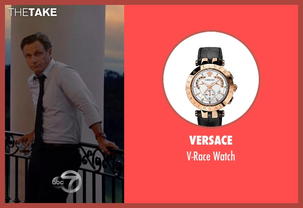 Versace gold watch from Scandal seen with President Fitzgerald Grant (Tony Goldwyn)