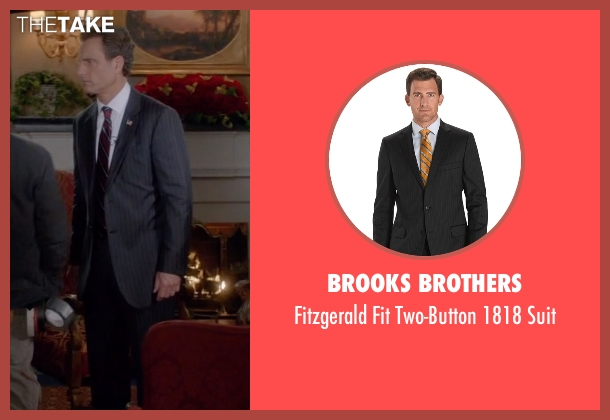 Brooks Brothers gray suit from Scandal seen with President Fitzgerald Grant (Tony Goldwyn)