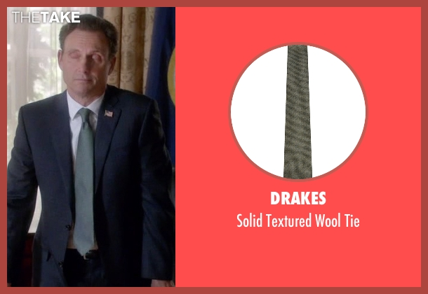 Drakes green tie from Scandal seen with President Fitzgerald Grant (Tony Goldwyn)