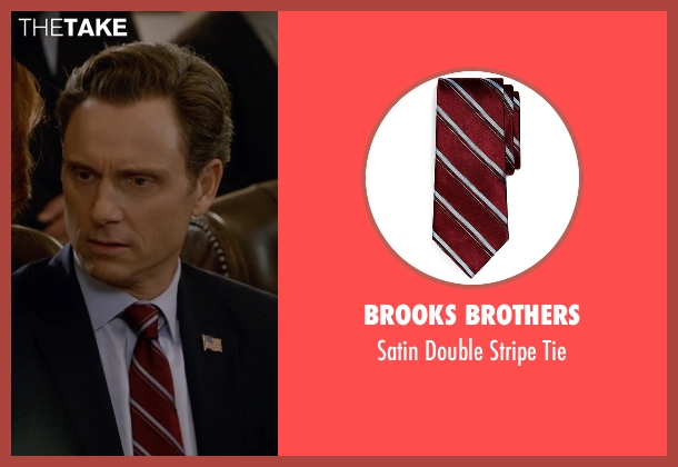 Brooks Brothers red tie from Scandal seen with President Fitzgerald Grant (Tony Goldwyn)