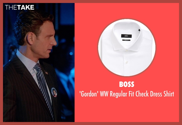 Boss white shirt from Scandal seen with President Fitzgerald Grant (Tony Goldwyn)