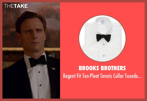 Brooks Brothers white shirt from Scandal seen with President Fitzgerald Grant (Tony Goldwyn)