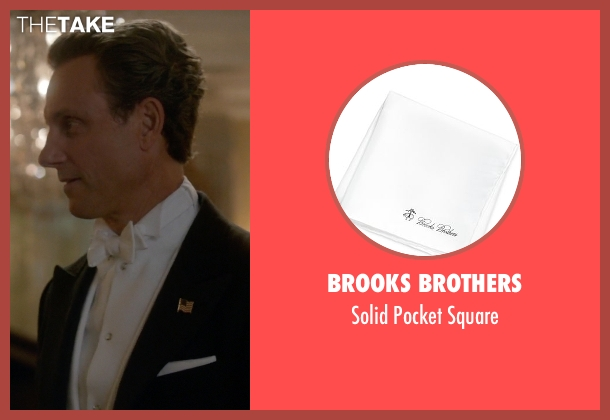Brooks Brothers white square from Scandal seen with President Fitzgerald Grant (Tony Goldwyn)
