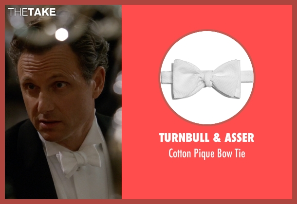 Turnbull & Asser white tie from Scandal seen with President Fitzgerald Grant (Tony Goldwyn)