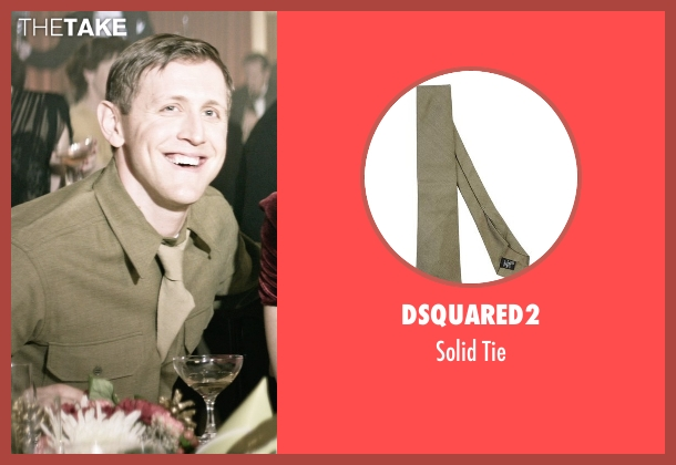 Dsquared2 green tie from The Age of Adaline seen with Primo Allon (Young Officer (1945))