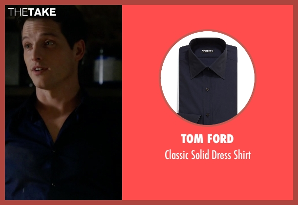 Tom Ford blue shirt from Guilt seen with Prince Theo (Sam Cassidy)