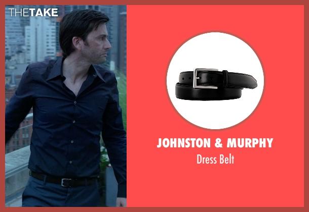 Johnston & Murphy black belt from Jessica Jones seen with Purple Man / Kilgrave (David Tennant)
