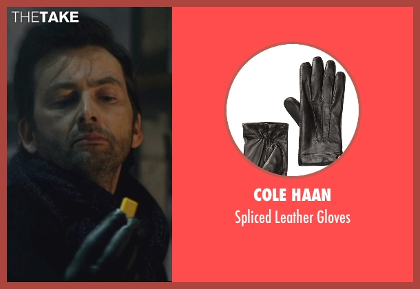 Cole Haan black gloves from Jessica Jones seen with Purple Man / Kilgrave (David Tennant)