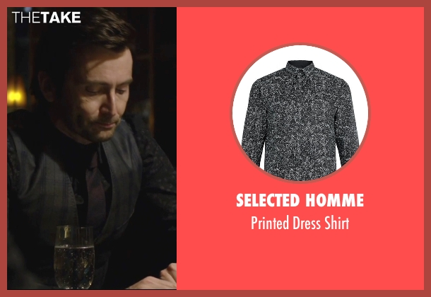 Selected Homme black shirt from Jessica Jones seen with Purple Man / Kilgrave (David Tennant)