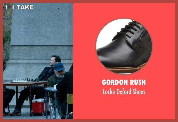Gordon Rush black shoes from Jessica Jones seen with Purple Man / Kilgrave (David Tennant)