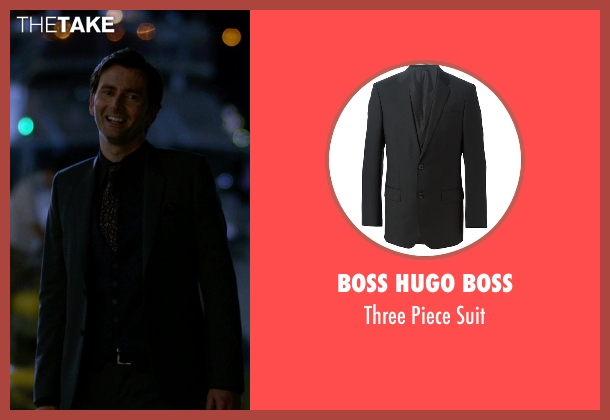 Boss Hugo Boss black suit from Jessica Jones seen with Purple Man / Kilgrave (David Tennant)