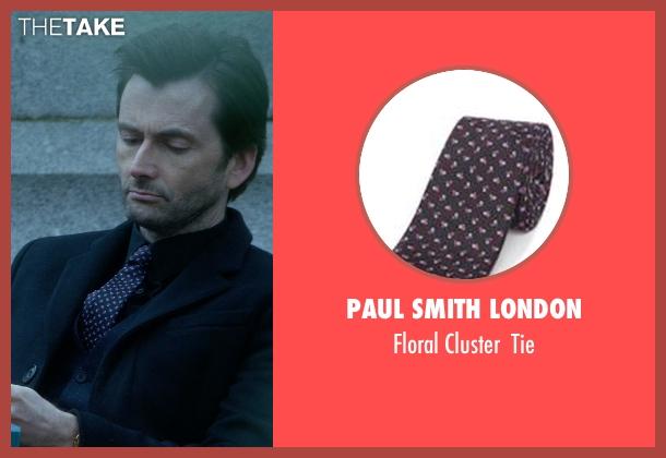 Paul Smith London black tie from Jessica Jones seen with Purple Man / Kilgrave (David Tennant)