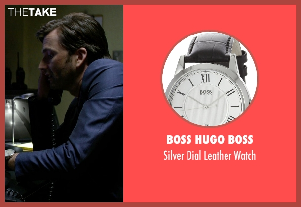 Boss Hugo Boss black watch from Jessica Jones seen with Purple Man / Kilgrave (David Tennant)
