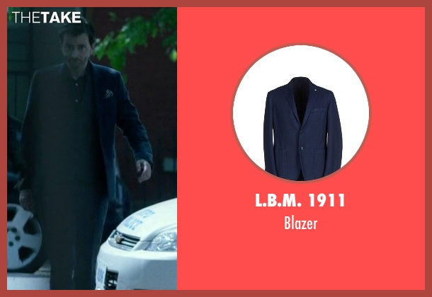 L.B.M. 1911 blue blazer from Jessica Jones seen with Purple Man / Kilgrave (David Tennant)