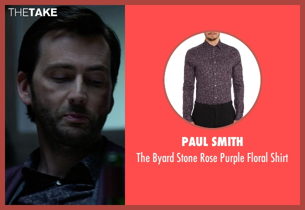 Paul Smith blue shirt from Jessica Jones seen with Purple Man / Kilgrave (David Tennant)