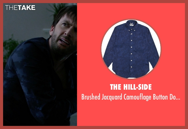 The Hill-Side blue shirt from Jessica Jones seen with Purple Man / Kilgrave (David Tennant)