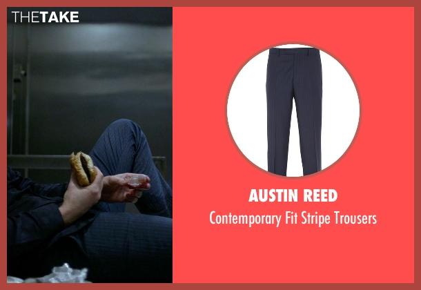 Austin Reed blue trousers from Jessica Jones seen with Purple Man / Kilgrave (David Tennant)