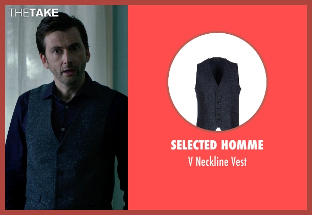 Selected Homme blue vest from Jessica Jones seen with Purple Man / Kilgrave (David Tennant)