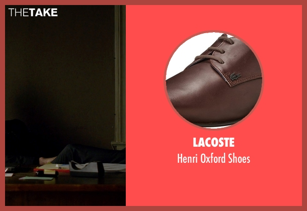 Lacoste brown shoes from Jessica Jones seen with Purple Man / Kilgrave (David Tennant)