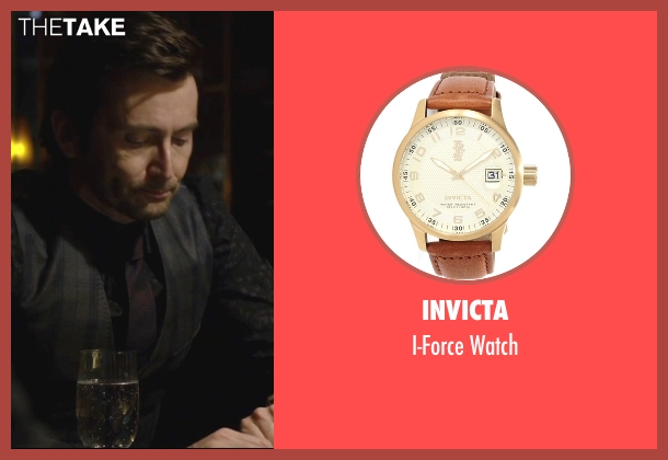 Invicta gold watch from Jessica Jones seen with Purple Man / Kilgrave (David Tennant)