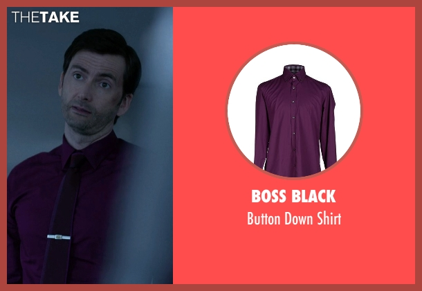 Boss Black purple shirt from Jessica Jones seen with Purple Man / Kilgrave (David Tennant)