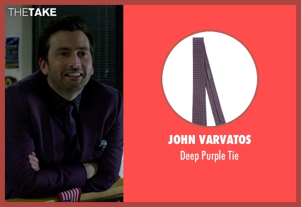 John Varvatos purple tie from Jessica Jones seen with Purple Man / Kilgrave (David Tennant)