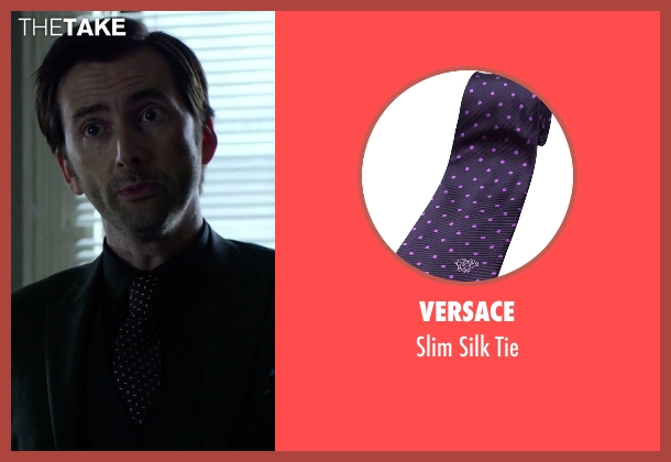 Versace purple tie from Jessica Jones seen with Purple Man / Kilgrave (David Tennant)