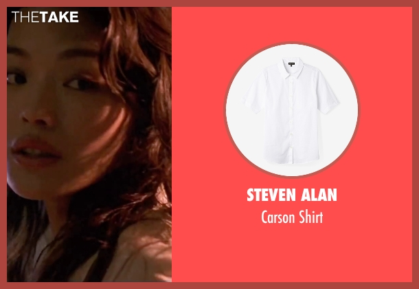 Steven Alan white shirt from The Transporter seen with Qi Shu (Lai)