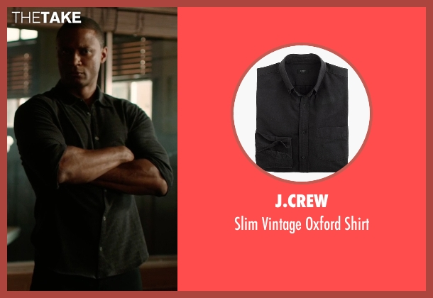 J.Crew black shirt from Arrow seen with Quentin Lance (Paul Blackthorne)
