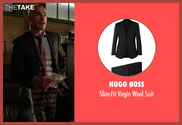 Hugo Boss black suit from Arrow seen with Quentin Lance (Paul Blackthorne)