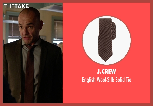J.Crew brown tie from Arrow seen with Quentin Lance (Paul Blackthorne)