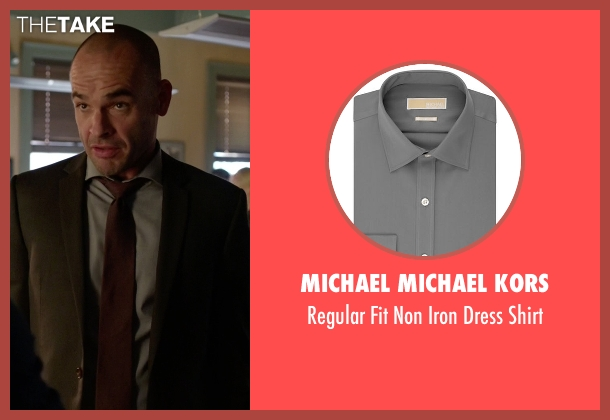 Michael Michael Kors gray shirt from Arrow seen with Quentin Lance (Paul Blackthorne)