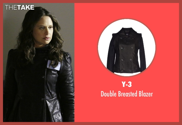Y-3 black blazer from Scandal seen with Quinn Perkins (Katie Lowes)