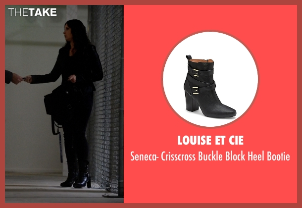 Louise Et Cie black bootie from Scandal seen with Quinn Perkins (Katie Lowes)