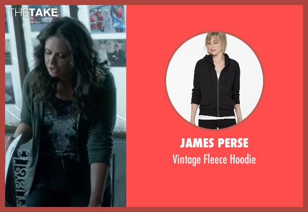 James Perse black hoodie from Scandal seen with Quinn Perkins (Katie Lowes)