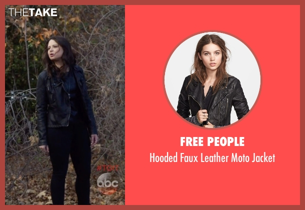 Free People black jacket from Scandal seen with Quinn Perkins (Katie Lowes)