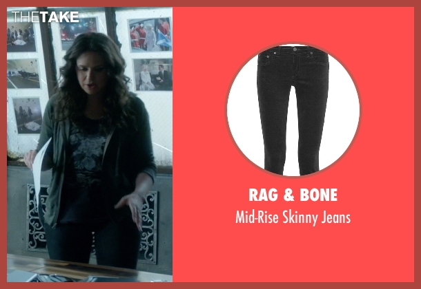 Rag & Bone black jeans from Scandal seen with Quinn Perkins (Katie Lowes)
