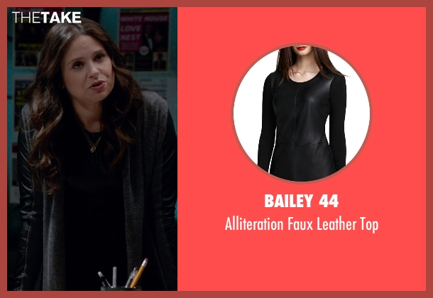 Bailey 44 black top from Scandal seen with Quinn Perkins (Katie Lowes)