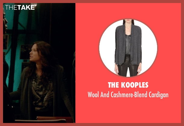 The Kooples gray cardigan from Scandal seen with Quinn Perkins (Katie Lowes)