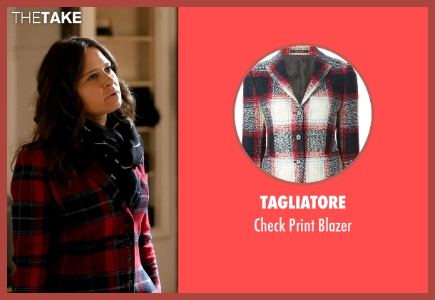 Tagliatore red blazer from Scandal seen with Quinn Perkins (Katie Lowes)
